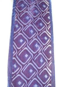 "Scarf  Glamorous FRANGI   Purple  56""  Silk burn out plush on viscose net base"