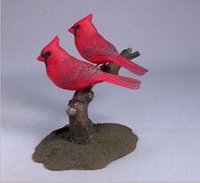 Original Bird Wood Carved Male Cardinal Pair/Birdhug