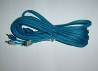 R2RCA17 Blue RCA 17 Ft Interconnect Audio Cable Amp Wire Car Amplifier Raptor