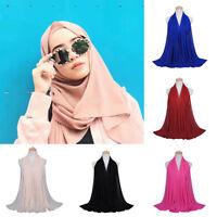 Women Casual Chiffon  Scarf Anti-uv Muslim Hijab Arab Wrap Shawl Headwear Eyeful