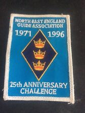 Vintage Cloth Patch North East England Guide Association Badge 25th Anniversary