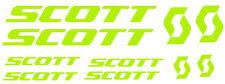 6 pegatinas de vinilo Amarillo fluorescente Scott  para bicicleta,  no 592