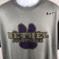 Bethel Football Nike Drifit T-Shirt Gray College University Size XL