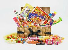 DELUXE WICKER Style RETRO SWEET HAMPER Large Birthday Father's Day Fathers gift