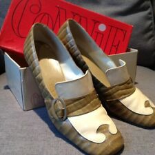 1960-70's Connie Vintag Shoes Loafer Chunky Heel Buckle 7.5 B in orig box.