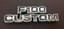Ford Factory Truck Emblem Chrome F-100 Custom Genuine Original Restore