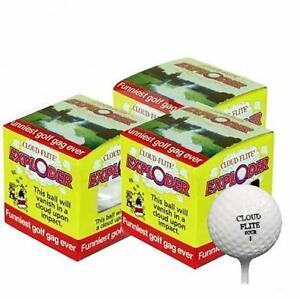 Exploding Golf Ball - Pack of 3