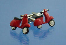 Red Scooter Moped Cufflinks With Gift Pouch Mod Motorbike Bike Present For Him