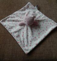 TU pink & cream bunny rabbit floral baby blankie comforter, blanket soft toy