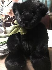 Four Sisters Inns Teddy Bear Black Brown Vintage No FS001. Bow. Great Gift!