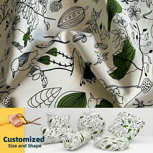 LF106 Bird Leaf Cotton Canvas Cushion Cover Bolster Pillow Case*TAILOR MADE