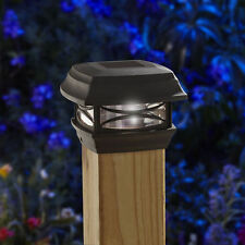 Moonrays Woods SIX PACK OF 4X4 SOLAR POST CAPS LIGHT BLACK 91253 fence and deck