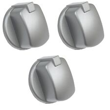 Genuine Hotpoint Indesit Oven Cooker Gas Knob Control Switch Inox 3 Pack