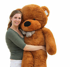 "Joyfay® 5 foot Giant Teddy Bear 63"" Dark Brown Stuffed Plush Toy Valentines Gift"