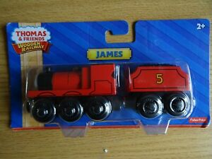 Thomas and friends James with tender  wooden railway NEW IN PACKAGING