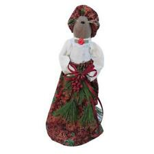 "Pearsons Simply Primitives  10"" Century Farm Mrs Tully Mouse With Greenery"
