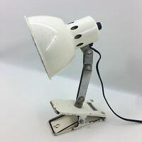 Vintage Retro Art Deco Task Desk Table Lamp Light Spring Clip Clamp Metal