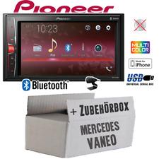 Radio Pioneer 2-DIN Bluetooth | MP3 | USB | Einbauset für Mercedes Vaneo W414