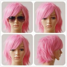 Multi Color Short Straight Hair Wig Anime Party Cosplay Full Sell Wigs 30Cm