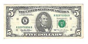 Billet 5 Dollars 1995 - K02970956B - Etats-Unis