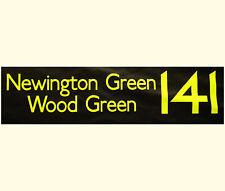 "NEWINGTON GREEN WOOD GREEN - Genuine London Bus Destination Blind - 42"""