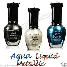 Kleancolor Aqua Liquid Metallic Collection Nail Polish 3 Colors Set Lacquer