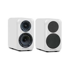 Wharfedale D320 Speakers (Pair) - WHITE Bookshelf Stand Mount PC Desktop Table