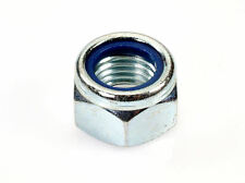 Qty 100 M6 Zinc Plated Hex Nyloc Nut 6mm Nylon Insert Lock Nuts