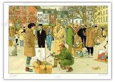 Ex-libris Juillard Blake Et Mortimer Place des héros Gaston signé 21x29,7 cm
