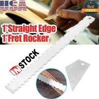 Guitar Neck Notched Straight Edge Luthiers Fingerboard Edge Fret Ruler Tool