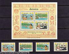 Jamaica - 1991 Colombus (3rd Issue) - U/M - SG802-5  MS806