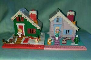 1993 Vintage Bluebird Polly Pocket lot Ski Lodge and Holiday Chalet