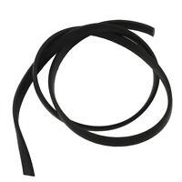Lederband Optik Schwarz Breite 5mm/Länge 5m Flach Kunstlederband Lederimitat C81