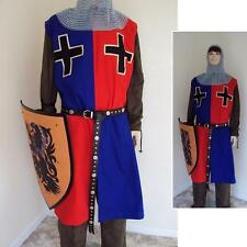 Medieval Knights Surcoat Red & Blue For Stage Costume, LARP or Re-enactment #