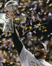 RAY LEWIS BALTIMORE RAVENS SIGNED AUTOGRAPH 8X10 PHOTO