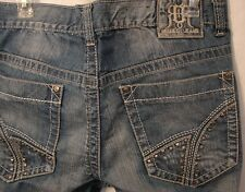 Request Premium Jeans 100% Cotton Distressed Denim 32x32 Accent Studded Pockets