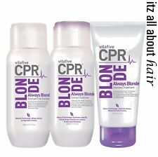 Vitafive CPR Always Blonde Shampoo Conditioner 300ml and Treatment 180ml Trio