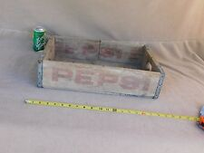 COLLECTIBLE VINTAGE PEPSI WOODEN BOX CRATE CASE ADVERTISING SODA