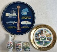 VINTAGE 1962 SPACE AGE WORLDS FAIR CENTURY 21 EXPOSITION SEATTLE WASHINGTON TRAY