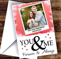 NEW PERSONALISED POLAROID PICTURE VALENTINES DAY CARD ADD ANY NAME, PIC & TEXT!