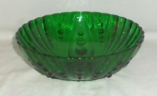 """Anchor Hocking BURPLE FOREST GREEN *8 1/2"""" LARGE BERRY BOWL*"""