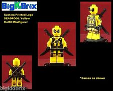 DEADPOOL YELLOW SUIT Custom Printed & Inspired Lego Marvel Minifigure