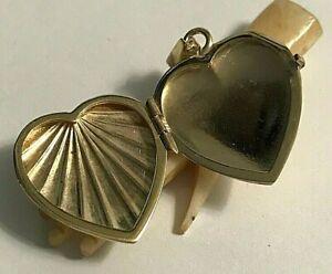Vintage 14k 585 Yellow Gold Italy FARO Fancy Heart Shape Locket 4.3g