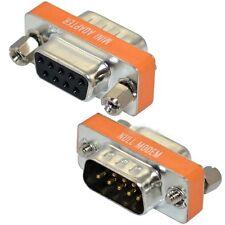 New Mini Null Modem DB9 Female to DB9 Male plug Adapter Gender Changer tt