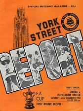 Nov 80 Boston United v Rotherham United FA Cup