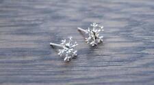 Sterling Silver Snowflake Earrings - Diamond Cut Center DB1N