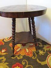 ANTIQUE WOOD TABLE GARGOYLE EAGLE GLASS BALL CLAW CAST IRON FEET ART ROSES VTG