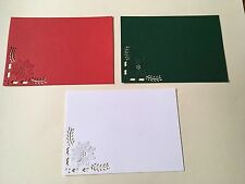 9 x Die cuts POINSETTIA CUTOUT CORNER  *FREE UK POSTAGE* Ideal for Christmas