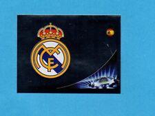 PANINI-CHAMPIONS 2012-2013-Figurina n.228- SCUDETTO/BADGE -REAL MADRID-NEW BLACK