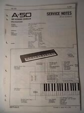 Original ROLAND Service Notes-  A-50 Midi Keyboard Controller